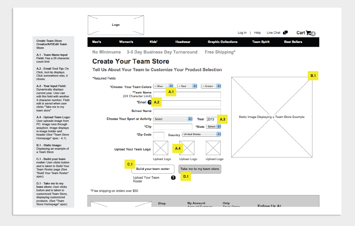 Wireframes Sample 2