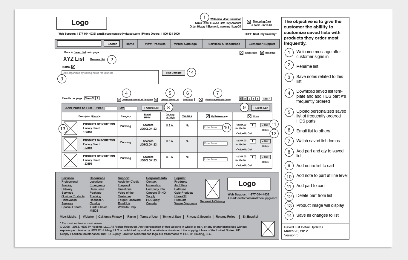 Wireframes Sample 3